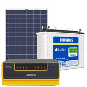 Luminous Solar Home Solution NXG1100 & 150Ah Solar Tubular Battery & 150W Poly Crys Module